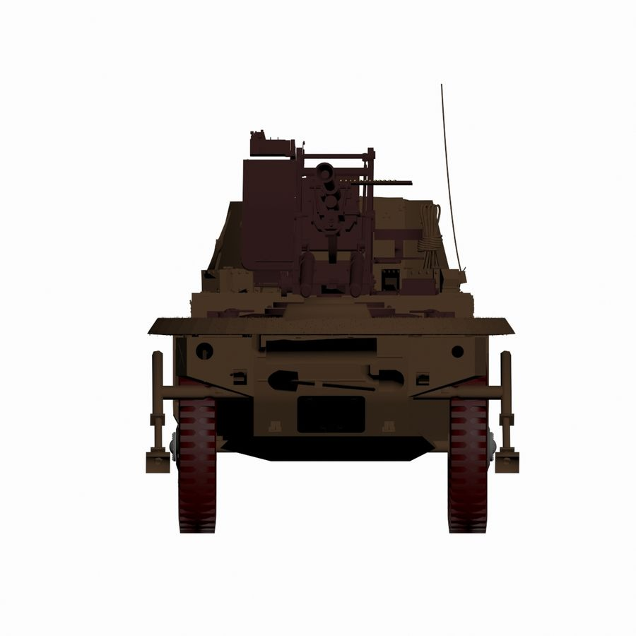 Vehicle Military Concept Car royalty-free 3d model - Preview no. 8