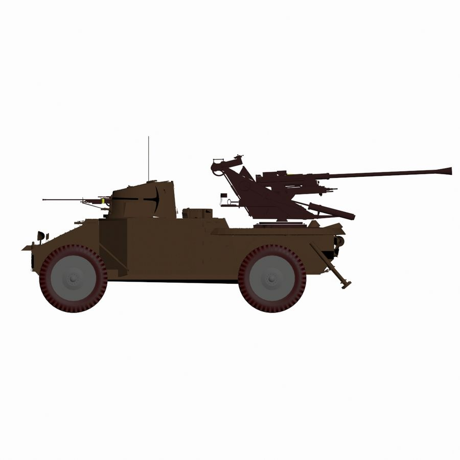Vehicle Military Concept Car royalty-free 3d model - Preview no. 6