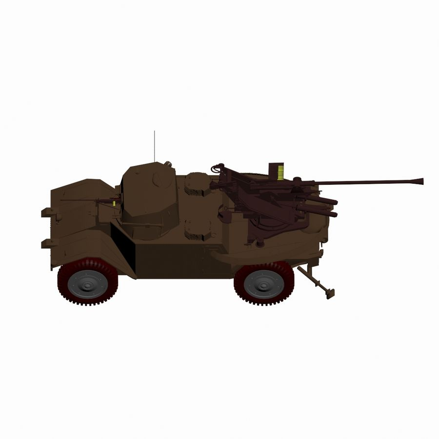 Vehicle Military Concept Car royalty-free 3d model - Preview no. 11