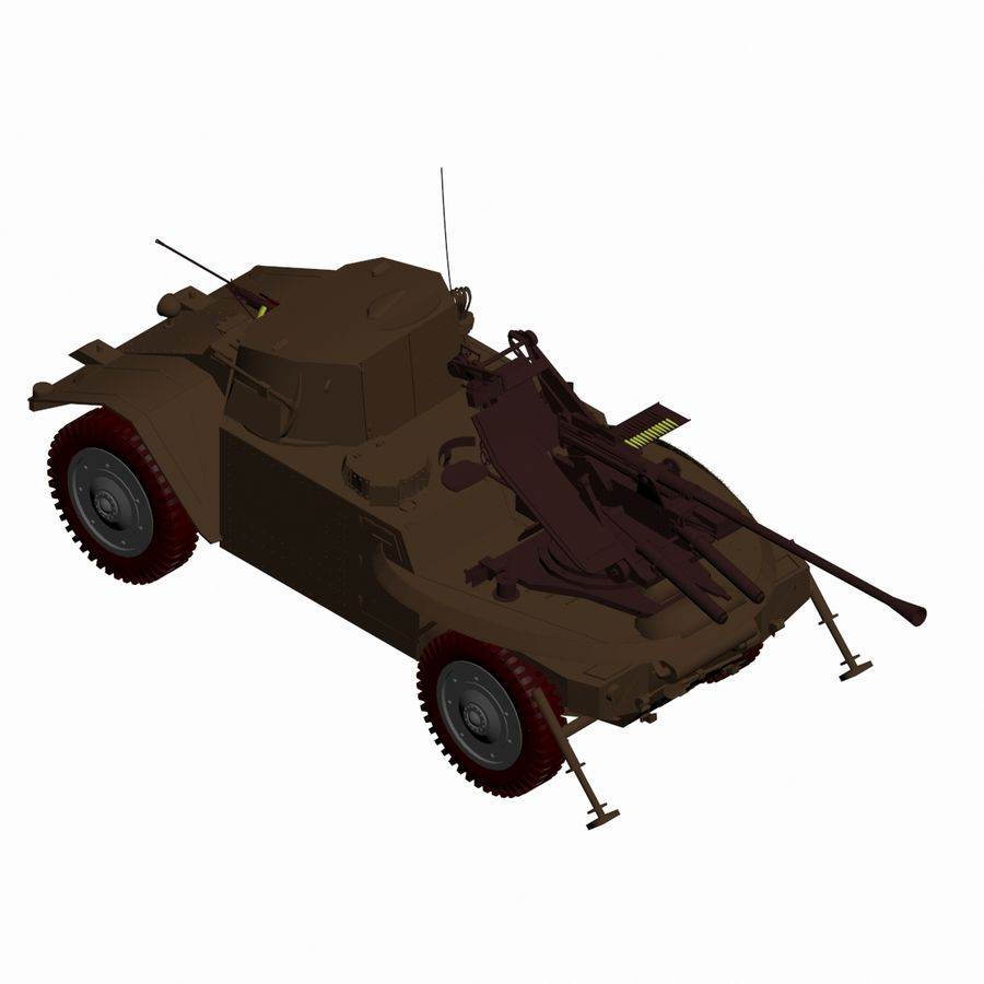 Vehicle Military Concept Car royalty-free 3d model - Preview no. 12