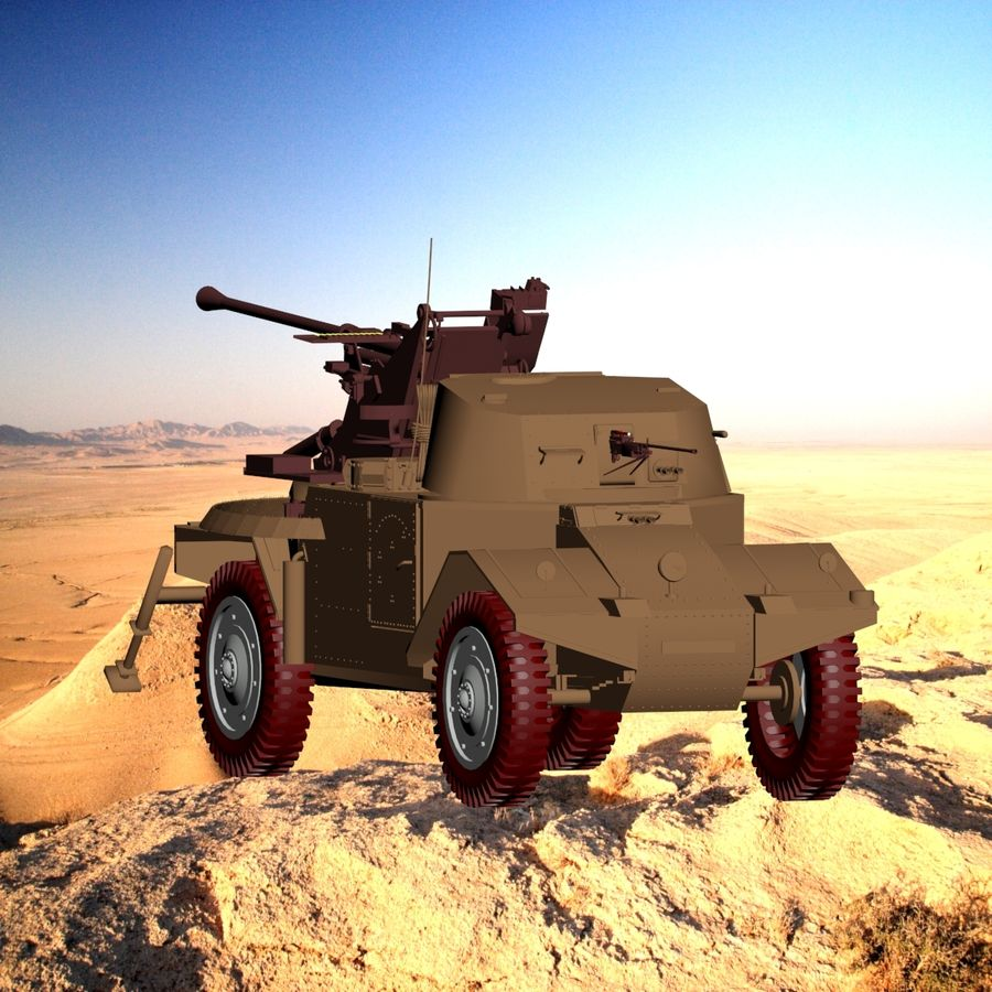 Vehicle Military Concept Car royalty-free 3d model - Preview no. 1