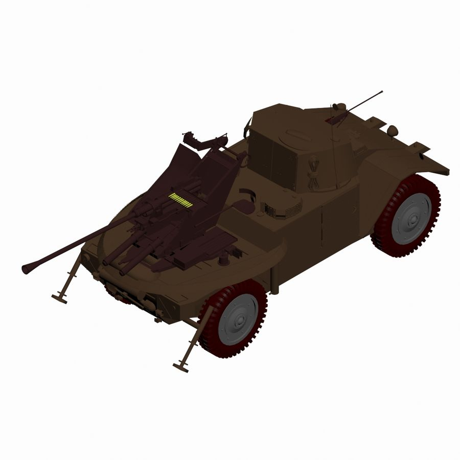 Vehicle Military Concept Car royalty-free 3d model - Preview no. 14