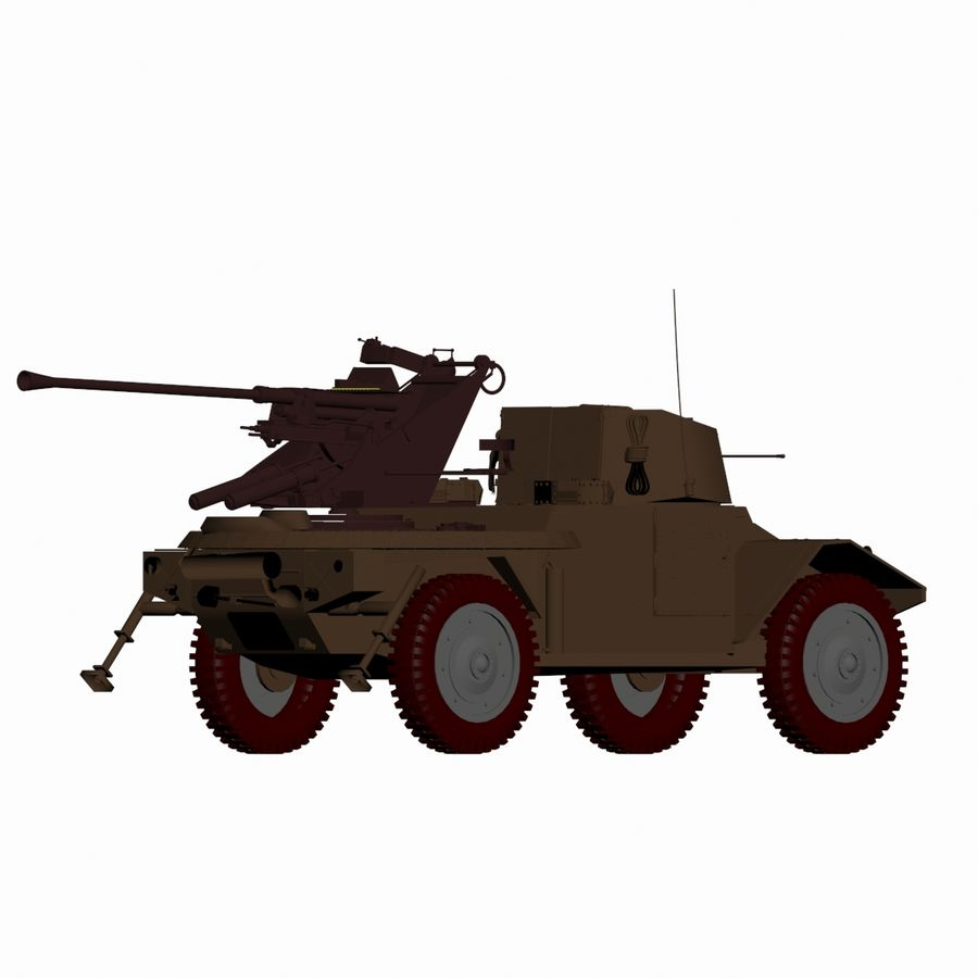Vehicle Military Concept Car royalty-free 3d model - Preview no. 9