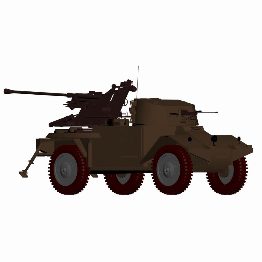 Vehicle Military Concept Car royalty-free 3d model - Preview no. 3