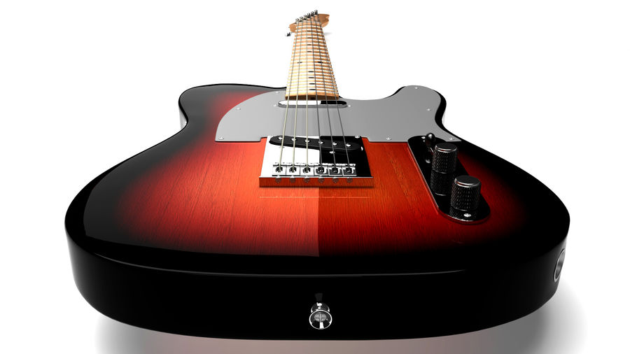 Fender Telecaster 1966 royalty-free 3d model - Preview no. 3