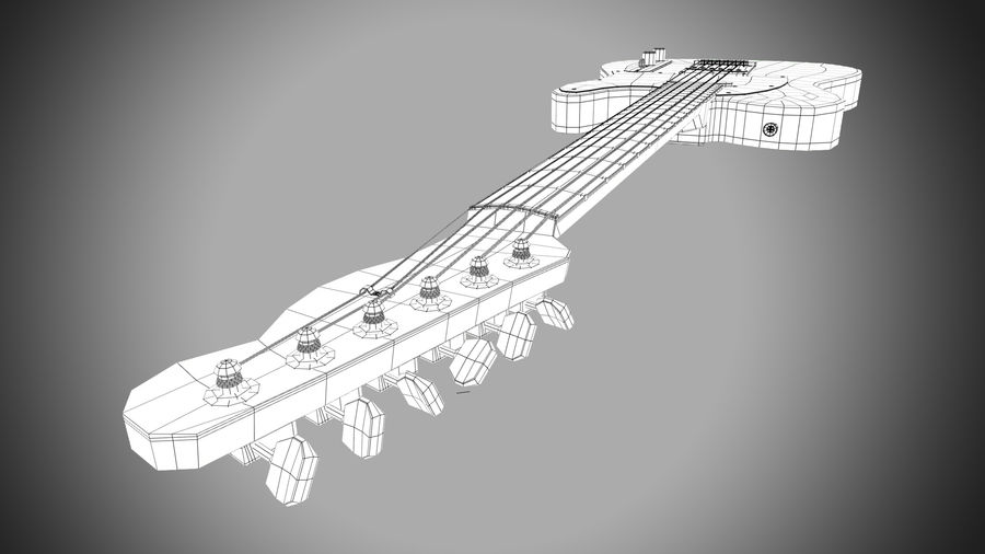 Fender Telecaster 1966 royalty-free 3d model - Preview no. 13