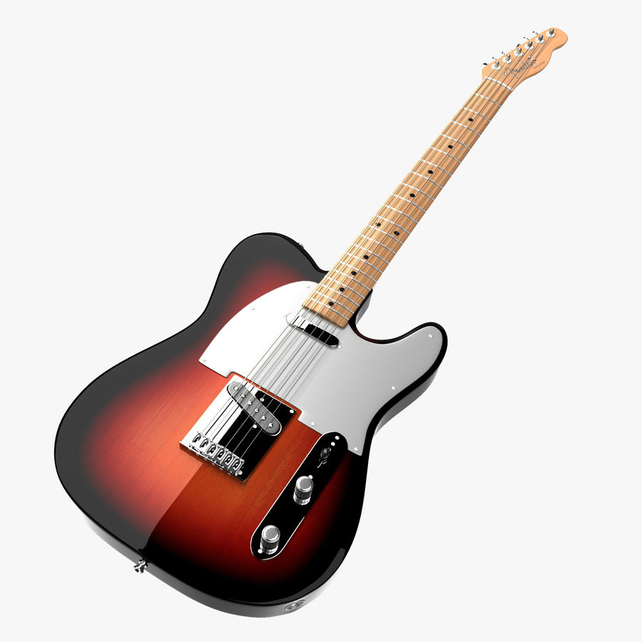 Fender Telecaster 1966 royalty-free 3d model - Preview no. 1