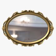 Miroir classique de style baroque 3d model