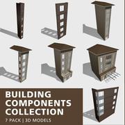 Kolekcja komponentów budowlanych 3d model