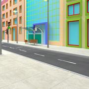 Modello di strada Toon 3d model