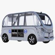 Navya buss grå 3d model