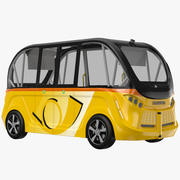 Navya Bus Yellow 3d model