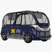 Navya buss blå 3d model