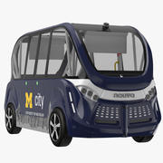 Navya Arma Bus Blue 3d model