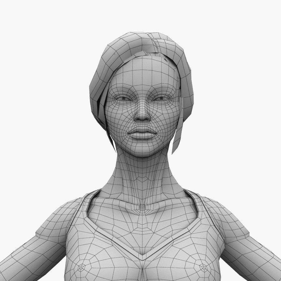 Athlète femme truquée royalty-free 3d model - Preview no. 22