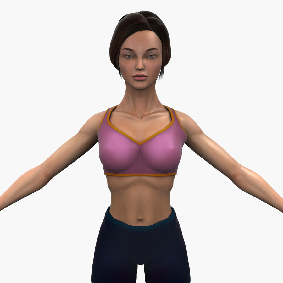Athlète femme truquée royalty-free 3d model - Preview no. 1