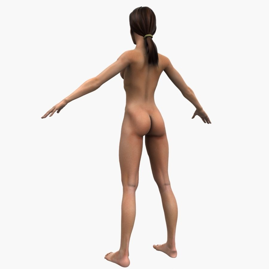 Athlète femme truquée royalty-free 3d model - Preview no. 12