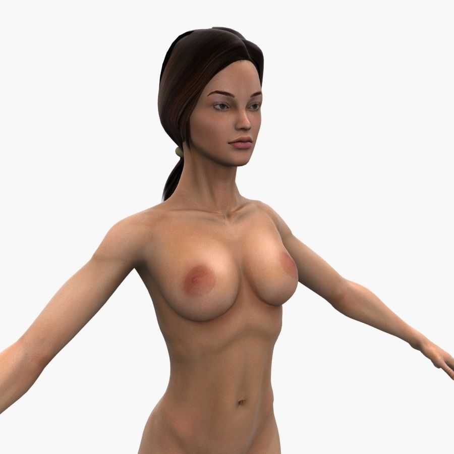 Athlète femme truquée royalty-free 3d model - Preview no. 13