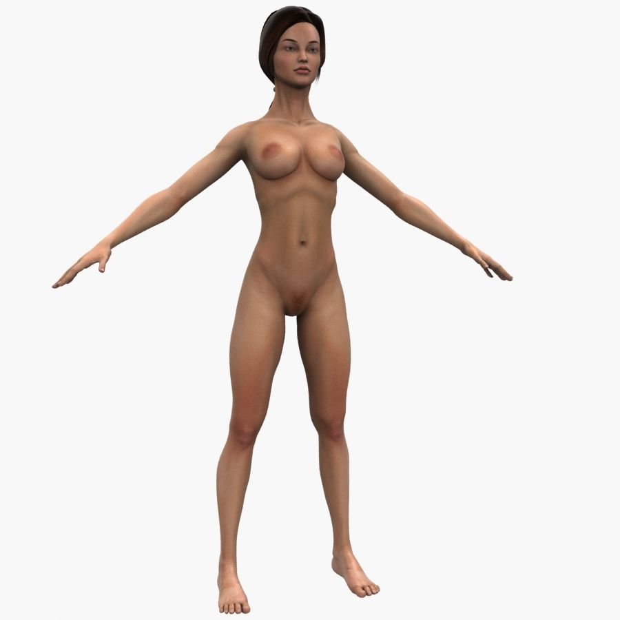 Athlète femme truquée royalty-free 3d model - Preview no. 11