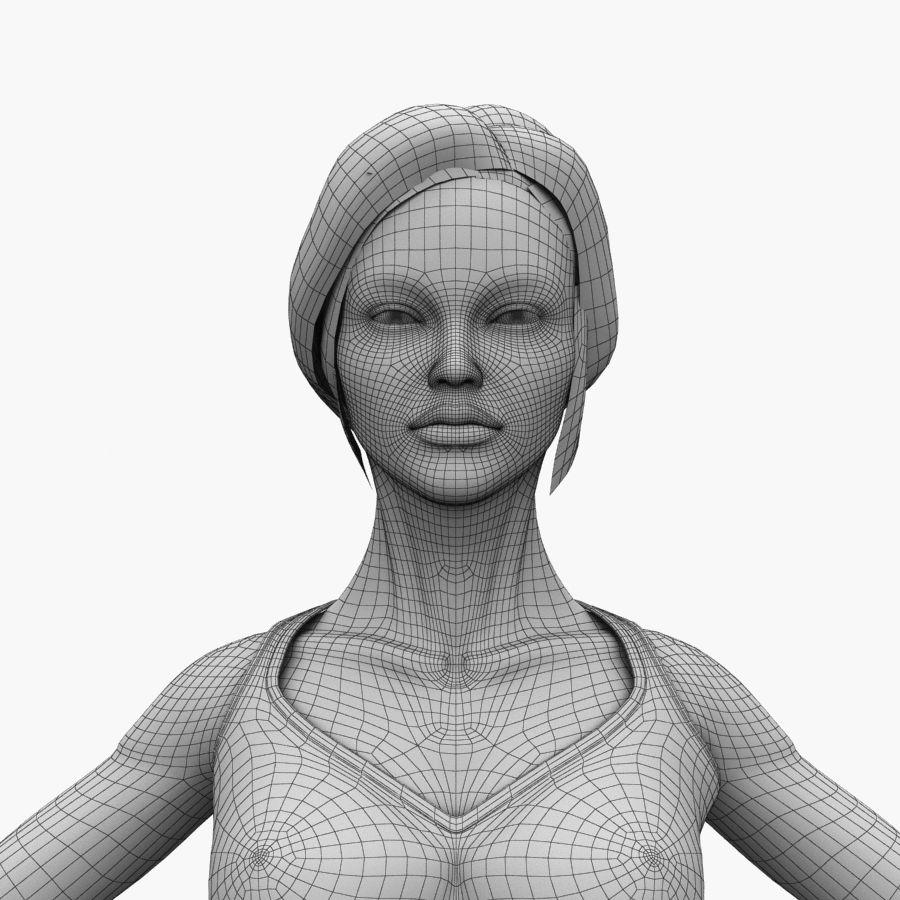 Athlète femme truquée royalty-free 3d model - Preview no. 21
