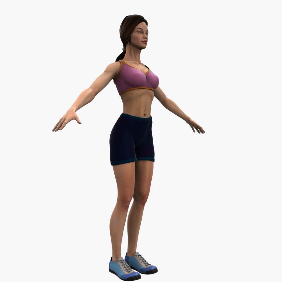 Athlète femme truquée royalty-free 3d model - Preview no. 3