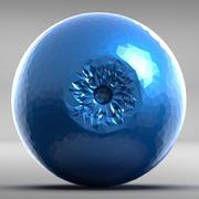 눈 다각형 3d model