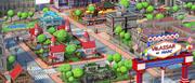 Stadt-Cartoon 3d model