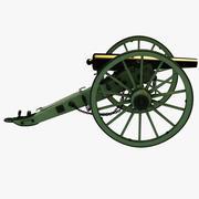 南北戦争3インチ兵器ライフル 3d model