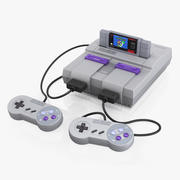 Super Nintendo SNES 3d model