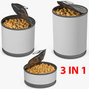 Corn Kernels in Can Collection 3d model