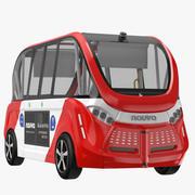 Navya Bus Red 3d model