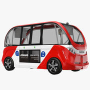 Navya Arma Bus Red 3d model