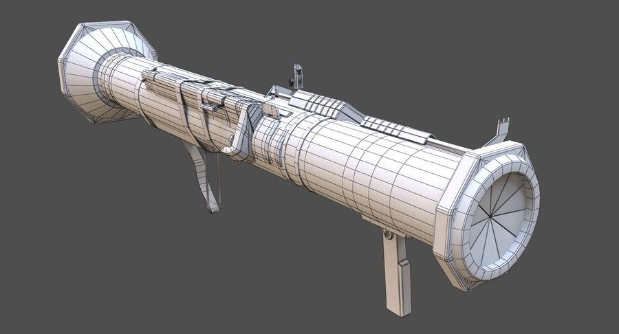 AT4 CS Rocket Launcher royalty-free 3d model - Preview no. 9