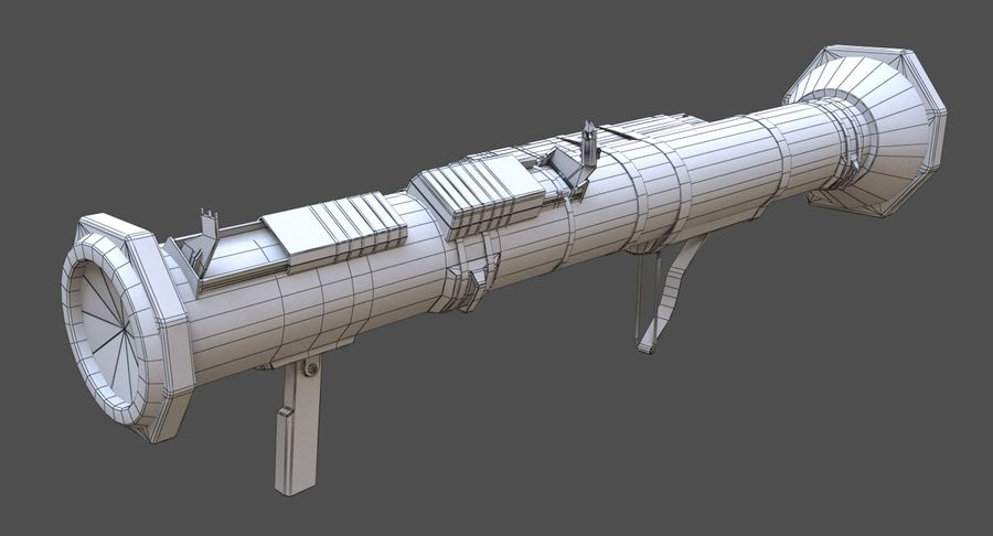 AT4 CS Rocket Launcher royalty-free 3d model - Preview no. 10