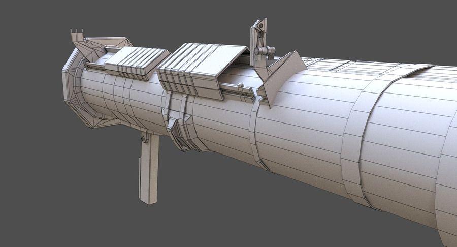 AT4 CS Rocket Launcher royalty-free 3d model - Preview no. 11