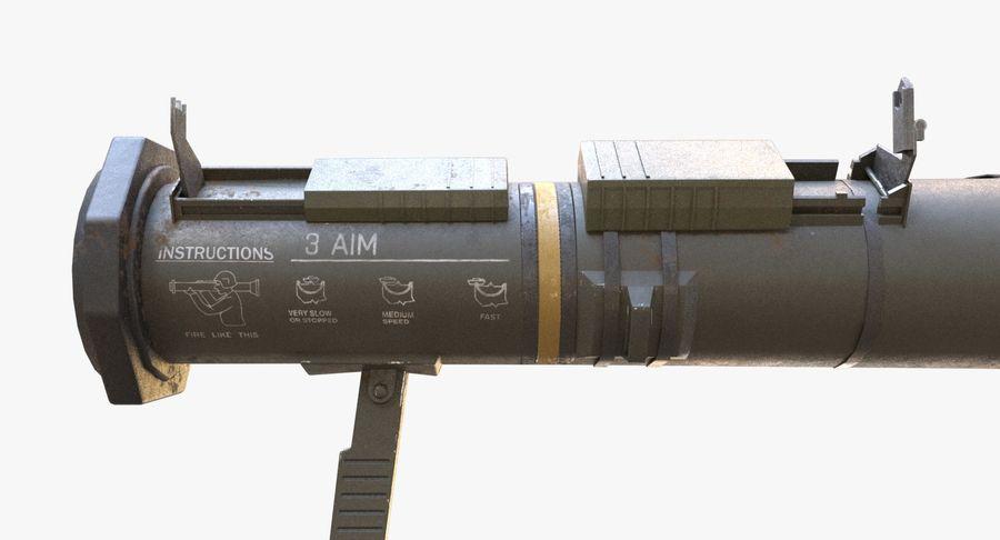 AT4 CS Rocket Launcher royalty-free 3d model - Preview no. 3