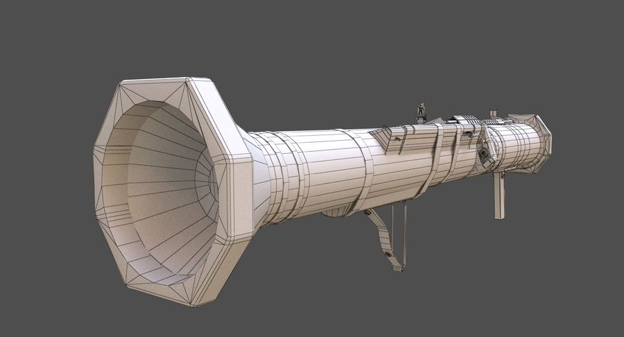 AT4 CS Rocket Launcher royalty-free 3d model - Preview no. 12