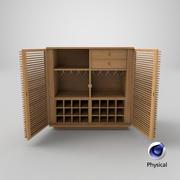 モダンなディスプレイキャビネット-オープン 3d model