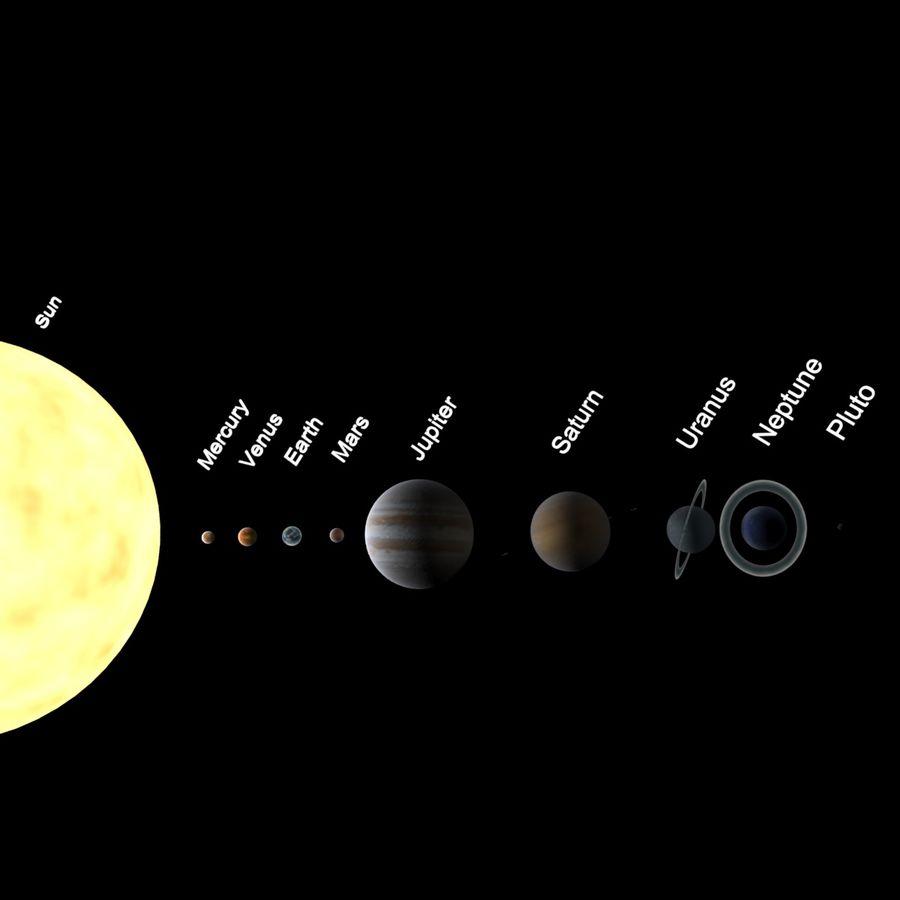 Planeten van het zonnestelsel royalty-free 3d model - Preview no. 1