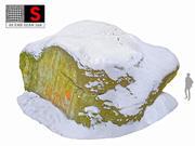 Rock Winter 3d model