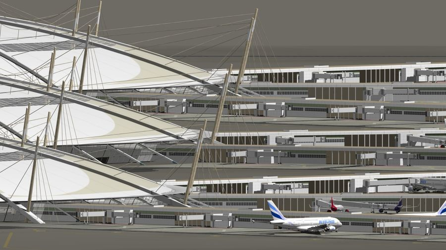 LUCHTHAVEN royalty-free 3d model - Preview no. 8