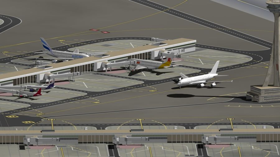 LUCHTHAVEN royalty-free 3d model - Preview no. 9
