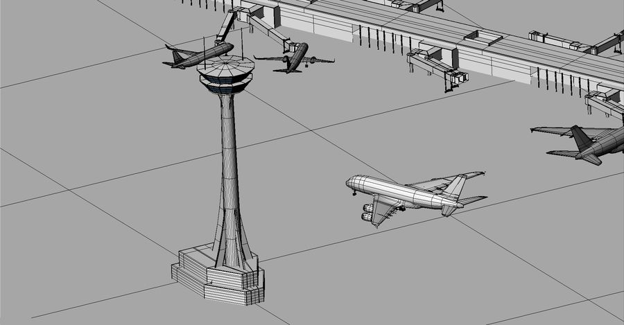 LUCHTHAVEN royalty-free 3d model - Preview no. 20