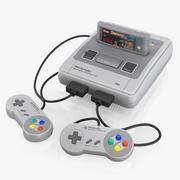Sistema de entretenimiento Super Nintendo modelo 3d