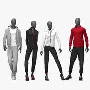 Sport suit set mixed 4 3d model