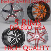 Diablo USA Rimsコレクション 3d model