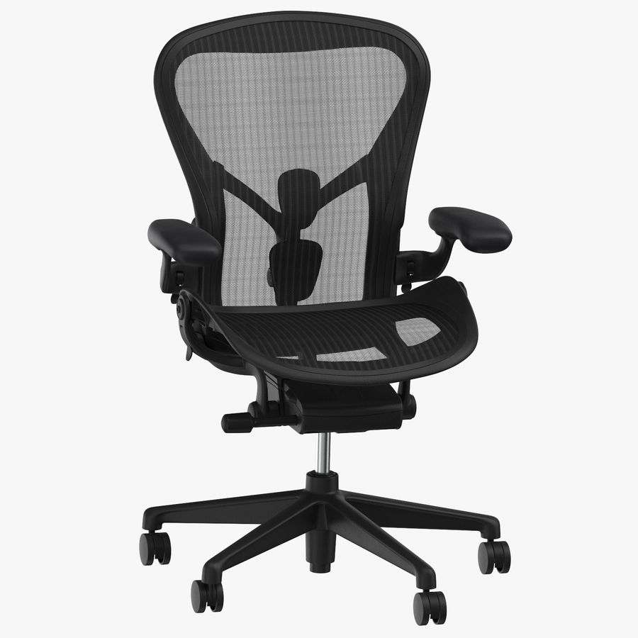 Chaise Herman Miller Aeron - 01 royalty-free 3d model - Preview no. 1