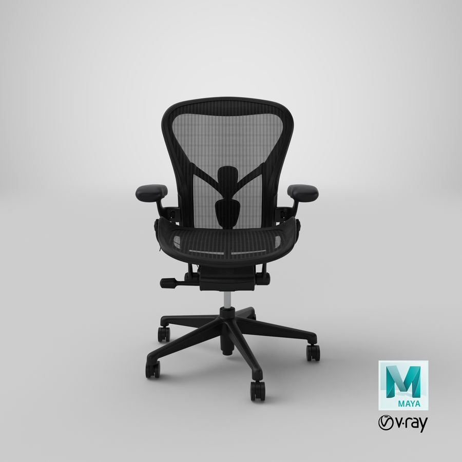 Chaise Herman Miller Aeron - 01 royalty-free 3d model - Preview no. 20