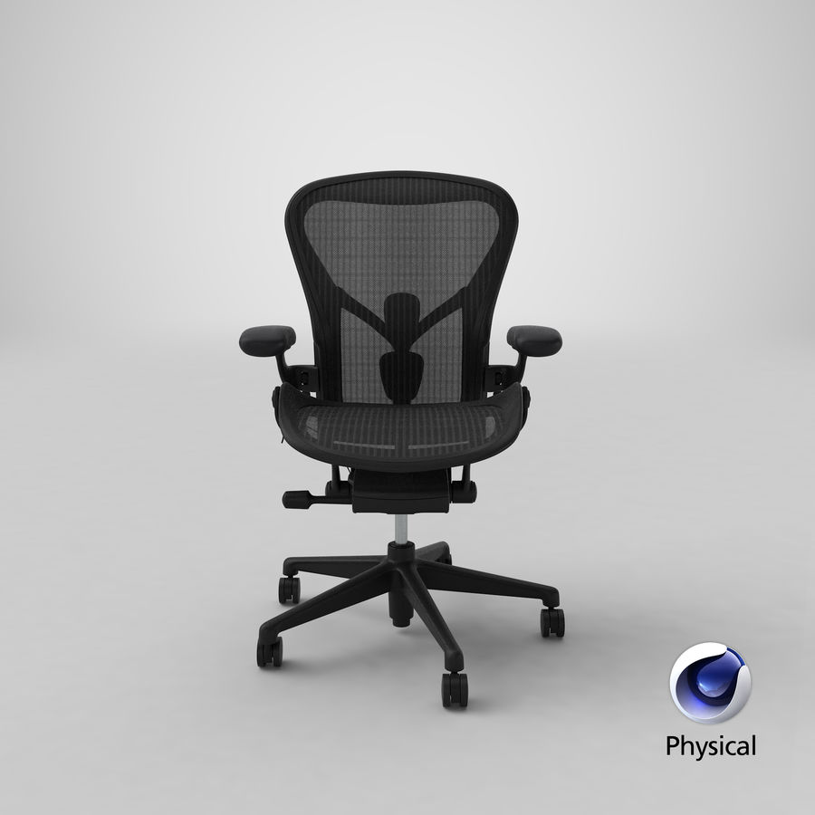 Chaise Herman Miller Aeron - 01 royalty-free 3d model - Preview no. 24