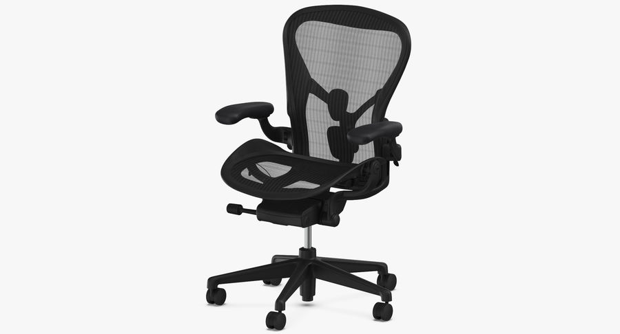 Chaise Herman Miller Aeron - 01 royalty-free 3d model - Preview no. 5